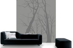 DM215-1 cikkszámú tapéta.Retro,természeti mintás,absztrakt,fa hatású-fa mintás,rajzolt,szürke,fekete,gyengén mosható,vlies poszter, fotótapéta