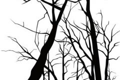 DM215-2 cikkszámú tapéta.Absztrakt,fa hatású-fa mintás,rajzolt,retro,természeti mintás,fehér,fekete,gyengén mosható,vlies poszter, fotótapéta