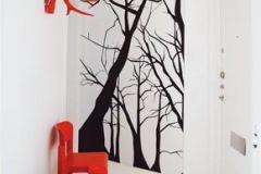 DM215-2 cikkszámú tapéta.Retro,természeti mintás,absztrakt,fa hatású-fa mintás,rajzolt,fehér,fekete,gyengén mosható,vlies poszter, fotótapéta