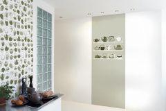 DM217-3 cikkszámú tapéta.Konyha-fürdőszobai,rajzolt,retro,fehér,szürke,zöld,gyengén mosható,vlies poszter, fotótapéta
