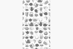 DM218-2 cikkszámú tapéta.Konyha-fürdőszobai,rajzolt,retro,fehér,fekete,szürke,gyengén mosható,vlies poszter, fotótapéta