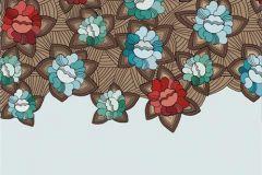 DM219-1 cikkszámú tapéta.Virágmintás,absztrakt,különleges motívumos,fehér,szürke,kék,piros-bordó,barna,zöld,gyengén mosható,vlies poszter, fotótapéta