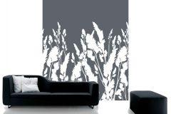 DM220-1 cikkszámú tapéta.Rajzolt,természeti mintás,virágmintás,fehér,szürke,gyengén mosható,vlies poszter, fotótapéta