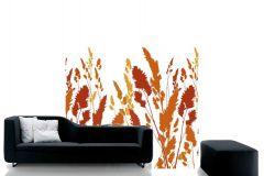 DM220-2 cikkszámú tapéta.Különleges motívumos,rajzolt,természeti mintás,bézs-drapp,fehér,narancs-terrakotta,piros-bordó,sárga,gyengén mosható,vlies poszter, fotótapéta