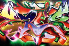 P172301-0 cikkszámú tapéta.Absztrakt,feliratos-számos,gyerek,különleges motívumos,rajzolt,retro,barna,bézs-drapp,kék,lila,narancs-terrakotta,pink-rózsaszín,piros-bordó,sárga,zöld,gyengén mosható,vlies poszter, fotótapéta