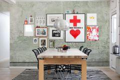 E020801-6 cikkszámú tapéta.Fotórealisztikus,kőhatású-kőmintás,különleges felületű,különleges motívumos,retro,bézs-drapp,fehér,vajszín,zöld,gyengén mosható,vlies poszter, fotótapéta