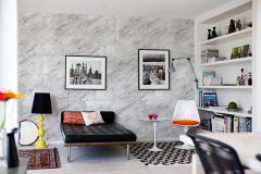E020901-6 cikkszámú tapéta.Fotórealisztikus,geometriai mintás,konyha-fürdőszobai,kőhatású-kőmintás,fehér,fekete,gyengén mosható,vlies poszter, fotótapéta
