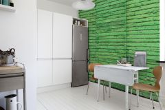 E021501-6 cikkszámú tapéta.3d hatású,fa hatású-fa mintás,fotórealisztikus,különleges motívumos,retro,fekete,szürke,zöld,gyengén mosható,vlies poszter, fotótapéta