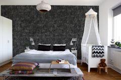 E022701-6 cikkszámú tapéta.Fotórealisztikus,különleges motívumos,textil hatású,textilmintás,fekete,szürke,gyengén mosható,vlies poszter, fotótapéta