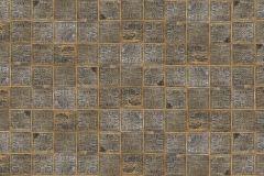 E023101-0 cikkszámú tapéta.3d hatású,absztrakt,geometriai mintás,kockás,kőhatású-kőmintás,különleges motívumos,retro,arany,barna,bézs-drapp,sárga,szürke,gyengén mosható,vlies poszter, fotótapéta