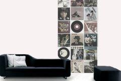 p130702-3 cikkszámú tapéta.Emberek-sztárok,feliratos-számos,retro,barna,fehér,fekete,gyengén mosható,vlies poszter, fotótapéta