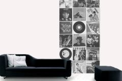 p130703-3 cikkszámú tapéta.Emberek-sztárok,feliratos-számos,retro,fehér,fekete,gyengén mosható,vlies poszter, fotótapéta