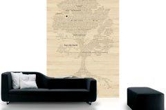 p130902-4 cikkszámú tapéta.Absztrakt,feliratos-számos,különleges motívumos,rajzolt,retro,természeti mintás,barna,bézs-drapp,fekete,gyengén mosható,vlies poszter, fotótapéta