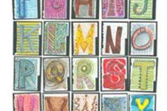 p131101-4 cikkszámú tapéta.Feliratos-számos,gyerek,rajzolt,retro,barna,fehér,fekete,kék,lila,narancs-terrakotta,sárga,szürke,zöld,gyengén mosható,vlies poszter, fotótapéta