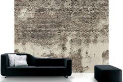 p131801-7 cikkszámú tapéta.3d hatású,fotórealisztikus,kőhatású-kőmintás,különleges motívumos,retro,barna,bézs-drapp,szürke,gyengén mosható,vlies poszter, fotótapéta