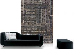 p132301-4 cikkszámú tapéta.Feliratos-számos,különleges motívumos,rajzolt,retro,barna,bézs-drapp,bronz,fekete,gyengén mosható,vlies poszter, fotótapéta
