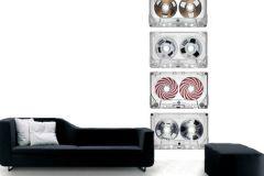 p132402-3 cikkszámú tapéta.Fotórealisztikus,retro,fehér,fekete,piros-bordó,gyengén mosható,vlies poszter, fotótapéta