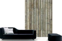 p132501-4 cikkszámú tapéta.Fa hatású-fa mintás,feliratos-számos,gyerek,retro,barna,bézs-drapp,fekete,gyengén mosható,vlies poszter, fotótapéta