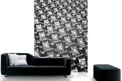 p132801-4 cikkszámú tapéta.3d hatású,fotórealisztikus,retro,fehér,fekete,szürke,gyengén mosható,vlies poszter, fotótapéta