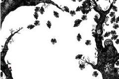 P010102-4 cikkszámú tapéta.Fa hatású-fa mintás,gyerek,természeti mintás,fehér,fekete,gyengén mosható,vlies poszter, fotótapéta