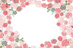 P010401-8 cikkszámú tapéta.Rajzolt,retro,virágmintás,fehér,pink-rózsaszín,piros-bordó,zöld,gyengén mosható,vlies poszter, fotótapéta