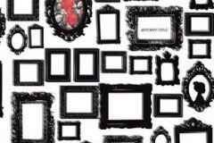 P010601-4 cikkszámú tapéta.Kockás,konyha-fürdőszobai,különleges motívumos,rajzolt,retro,fehér,fekete,piros-bordó,gyengén mosható,vlies poszter, fotótapéta