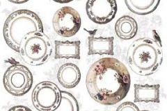 P011001-4 cikkszámú tapéta.Absztrakt,feliratos-számos,különleges motívumos,rajzolt,retro,barna,bézs-drapp,fehér,pink-rózsaszín,szürke,gyengén mosható,vlies poszter, fotótapéta