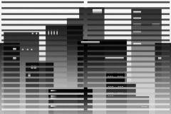 P011101-8 cikkszámú tapéta.Csíkos,különleges motívumos,rajzolt,retro,fehér,fekete,szürke,gyengén mosható,vlies poszter, fotótapéta