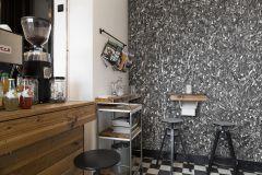 P190201-4 cikkszámú tapéta.Absztrakt,fémhatású - indusztriális,fotórealisztikus,konyha-fürdőszobai,különleges motívumos,metál-fényes,retro,ezüst,fehér,fekete,szürke,gyengén mosható,vlies poszter, fotótapéta