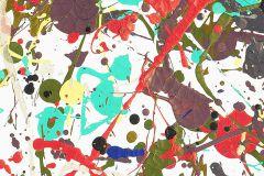 P190501-6 cikkszámú tapéta.Absztrakt,gyerek,különleges motívumos,retro,barna,fehér,fekete,kék,piros-bordó,türkiz,gyengén mosható,vlies poszter, fotótapéta