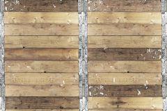 P191801-6 cikkszámú tapéta.Retro,fa hatású-fa mintás,különleges motívumos,metál-fényes,fotórealisztikus,barna,bézs-drapp,ezüst,gyengén mosható,vlies poszter, fotótapéta