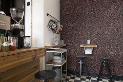 P192501-9 cikkszámú tapéta.3d hatású,konyha-fürdőszobai,metál-fényes,retro,természeti mintás,barna,bronz,fekete,gyengén mosható,vlies poszter, fotótapéta