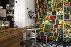 P192901-5 cikkszámú tapéta.3d hatású,fotórealisztikus,konyha-fürdőszobai,különleges motívumos,retro,természeti mintás,barna,fehér,fekete,narancs-terrakotta,piros-bordó,sárga,vajszín,zöld,gyengén mosható,vlies poszter, fotótapéta