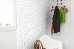 P110601-4 cikkszámú tapéta.Absztrakt,geometriai mintás,gyerek,különleges motívumos,rajzolt,retro,fehér,szürke,zöld,gyengén mosható,vlies poszter, fotótapéta