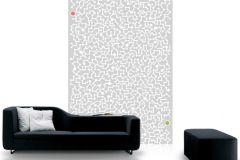 P110602-4 cikkszámú tapéta.Absztrakt,geometriai mintás,gyerek,különleges motívumos,rajzolt,retro,fehér,szürke,zöld,gyengén mosható,vlies poszter, fotótapéta