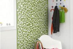 P110603-4 cikkszámú tapéta.Absztrakt,különleges motívumos,rajzolt,retro,fehér,zöld,gyengén mosható,vlies poszter, fotótapéta