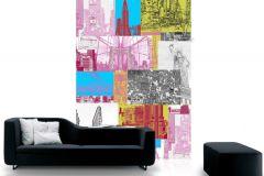 P111102-4 cikkszámú tapéta.Absztrakt,fotórealisztikus,gyerek,különleges motívumos,rajzolt,retro,tájkép,fehér,fekete,kék,pink-rózsaszín,piros-bordó,sárga,gyengén mosható,vlies poszter, fotótapéta