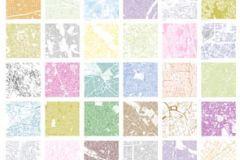 P111403-4 cikkszámú tapéta.Kockás,retro,gyerek,absztrakt,különleges motívumos,fotórealisztikus,fehér,kék,lila,pink-rózsaszín,barna,bézs-drapp,narancs-terrakotta,sárga,zöld,gyengén mosható,vlies poszter, fotótapéta