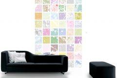 P111403-4 cikkszámú tapéta.Absztrakt,fotórealisztikus,geometriai mintás,gyerek,kockás,különleges motívumos,rajzolt,retro,barna,bézs-drapp,fehér,kék,lila,narancs-terrakotta,pink-rózsaszín,sárga,zöld,gyengén mosható,vlies poszter, fotótapéta