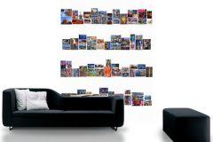 P112102-4 cikkszámú tapéta.Feliratos-számos,fotórealisztikus,különleges motívumos,retro,tájkép,fehér,fekete,kék,lila,piros-bordó,gyengén mosható,vlies poszter, fotótapéta