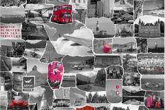 P112301-4 cikkszámú tapéta.Fotórealisztikus,gyerek,különleges motívumos,retro,természeti mintás,fehér,pink-rózsaszín,piros-bordó,szürke,gyengén mosható,vlies poszter, fotótapéta