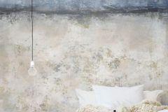 P150102-4 cikkszámú tapéta.Kőhatású-kőmintás,különleges motívumos,rajzolt,retro,bézs-drapp,kék,gyengén mosható,vlies poszter, fotótapéta
