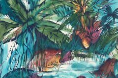 P150201-5 cikkszámú tapéta.Fa hatású-fa mintás,rajzolt,retro,természeti mintás,kék,lila,piros-bordó,zöld,gyengén mosható,vlies poszter, fotótapéta