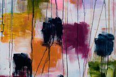 P151001-5 cikkszámú tapéta.Absztrakt,különleges motívumos,rajzolt,retro,fehér,fekete,lila,narancs-terrakotta,zöld,gyengén mosható,vlies poszter, fotótapéta