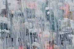 P151601-8 cikkszámú tapéta.Absztrakt,fotórealisztikus,különleges motívumos,rajzolt,retro,fehér,kék,pink-rózsaszín,szürke,gyengén mosható,vlies poszter, fotótapéta