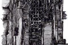 P152001-4 cikkszámú tapéta.Absztrakt,rajzolt,retro,fehér,fekete,szürke,gyengén mosható,vlies poszter, fotótapéta