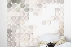 P152101-5 cikkszámú tapéta.Absztrakt,geometriai mintás,kockás,rajzolt,retro,barna,bézs-drapp,fehér,szürke,zöld,gyengén mosható,vlies poszter, fotótapéta