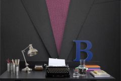 P140302-4 cikkszámú tapéta.3d hatású,fotórealisztikus,különleges motívumos,retro,textilmintás,fehér,fekete,piros-bordó,gyengén mosható,vlies poszter, fotótapéta