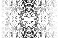 P140402-6 cikkszámú tapéta.Barokk-klasszikus,csipke,különleges motívumos,rajzolt,retro,természeti mintás,fehér,fekete,gyengén mosható,vlies poszter, fotótapéta