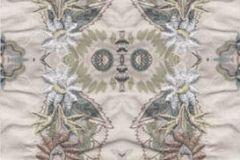 P140701-2 cikkszámú tapéta.3d hatású,absztrakt,barokk-klasszikus,különleges motívumos,természeti mintás,textilmintás,virágmintás,barna,kék,szürke,gyengén mosható,vlies poszter, fotótapéta